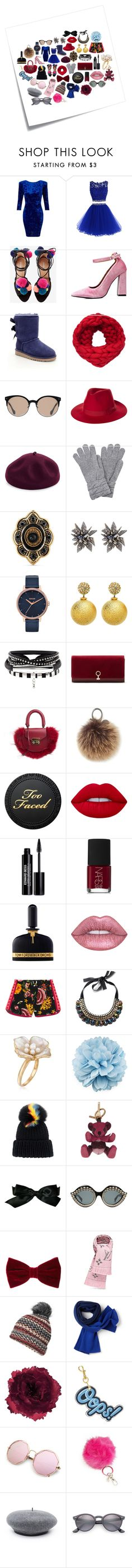 Some of My Favorite Things by crystalglowdesign on Polyvore featuring Miss Selfridge, Gucci, Odette, UGG, SALAR, Louise et Cie, Rebecca Minkoff, Alexis Bittar, Ross-Simons and Nixon