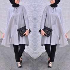 While it's pretty easy to stay covered and wear modest outfits in winters, Modest Summer Fashion, Summer Fashion Trends, Hijab Casual, Hijab Chic, Hijab Dress, Hijab Outfit, Abaya Fashion, Fashion Outfits, Moslem Fashion