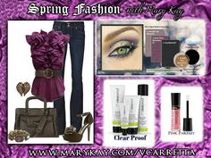 Spring Fashion with Mary Kay's great skin care and beautiful color products.  ORDER: www.marykay.com/vcarretta