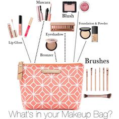 Makeup Bag by chawy-mk on Polyvore featuring polyvore beauty Urban Decay NARS Cosmetics Too Faced Cosmetics Bobbi Brown Cosmetics Stila Clinique Trina Turk LA