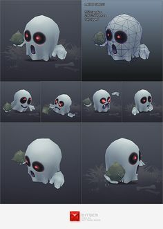 Low Poly Micro Ghost Hubert by bitgem on deviantART