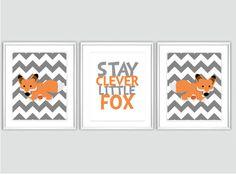 Fox Nursery Print  Baby Boy Nursery Art  Fox by SweetLittleBarn, $39.99