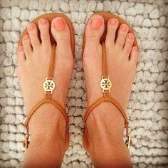 tory burch sandals. love.