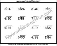 Division Worksheets – Six Worksheets / FREE Printable Worksheets Math Division Worksheets, Free Printable Math Worksheets, 4th Grade Math Worksheets, Math Activities, Teaching Strategies, Teaching Math, Maths, Learning Time, Kids Learning