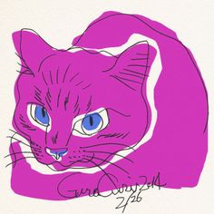GuraGuri #002 It is the series of the illustration of the cat which Japanese illustrator Toshinori Mori drew.