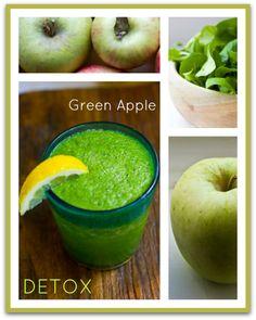 Green Apple Detox Juice for a healthy fall apple season!