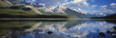 Maligne Lake Reflections Mural - David Lawrence| Murals Your Way