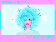 AIR FRANCE / Advertising campaign (using beauty / portraiture as main focal point for marketing strategy)