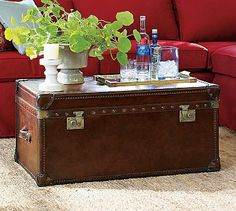 Love this trunk for a coffee table