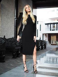 Hallhuber Dress - Chanel Bag - Asos Heels   Metti Forssell