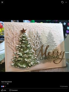 How to Make Awesome Handmade Christmas Cards Your Family Will Love – Christmas Trees – Christmas DIY Holiday Cards Christmas Cards 2018, Homemade Christmas Cards, Merry Christmas To All, Christmas Paper, Christmas Greeting Cards, Homemade Cards, Handmade Christmas, Holiday Cards, Christmas Crafts