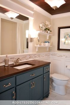 DIY Bathroom Remodel Before And After – Addicted 2 Decorating® – Larissa Sapp DIY Bathroom Remodel Before And After – Addicted 2 Decorating® Bathroom remodel – original 1948 bathroom was torn down to studs and completely rebuilt Diy Bathroom Remodel, Bathroom Renovations, Kitchen Remodel, Bathroom Makeovers, Bathroom Ideas, Bathroom Organization, Budget Bathroom, Bathroom Inspo, Restroom Remodel
