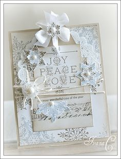 Paper Girl Crafts - lots of yummy white Christmas stuff on this site!