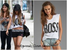 Vanessa Hudgens is wearing this Boss Graphic Tank. You can purchase this from Revolve Clothing for $54 Buy this here