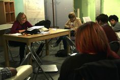 CAROLE SALISBURY gives the industry filmmaking students a script supervising class