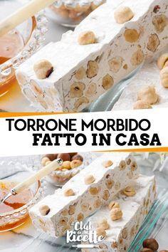 Torrone Recipe, Nougat Recipe, Authentic Italian Desserts, Italian Recipes, Great Desserts, Dessert Recipes, Nutella Fudge, Mini Pastries, Kolaci I Torte