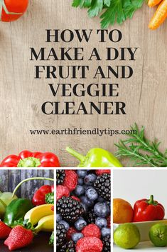 You can make sure your fruits and vegetables are clean and safe to eat when you discover how to make a simple DIY fruit and veggie cleaner that only requires a few ingredients. Eco Friendly Cleaning Products, Homemade Cleaning Products, Natural Cleaning Products, Real Food Recipes, Healthy Recipes, Food Tips, Food Hacks, Diy Hacks, Healthy Foods