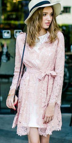 Morpheus Boutique  - Pink Hollow Out Long Sleeve Hem Belted Designer Dress, CA$171.86 (http://www.morpheusboutique.com/new-arrivals/pink-hollow-out-long-sleeve-hem-belted-designer-dress/)