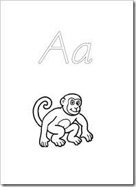 Alfabetskort färglägga