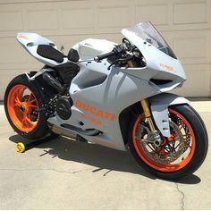 Grey and Orange Ducati