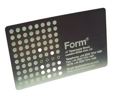 business card — Form