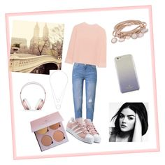 """""""Romantic"""" by luciarakoczyova on Polyvore featuring WithChic, iHeart, Kate Spade, Marjana von Berlepsch, adidas Originals, Beats by Dr. Dre and Witchery"""