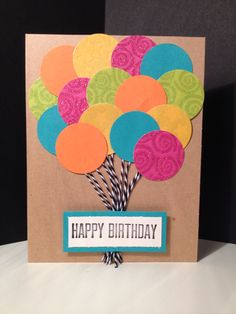 Happy Birthday balloon card.