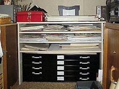 Combo flat file and paper storage
