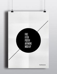 Free Flyer / Poster Mock-up by BlueMonkeyLab , via Behance