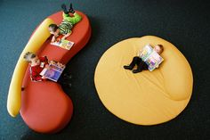 Aerial view of Childrens Sofa and Floormat - Hindmarsh Library Commercial Interior Design, Commercial Interiors, Quirky Kitchen, Custom Sofa, Brompton, Mid Century Furniture, Floor Mats, Living Spaces, Furniture Design