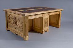 Custom Carved Desk