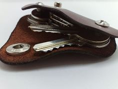 Extremely convenient keychain/ key holder from brown by TIZART, $15.00