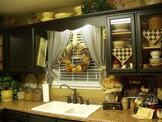 image result for diy kitchen window treatments ideas