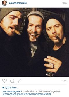 Colin O'Donoghue, Sean Maguire and Michael Raymond James