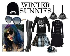 """Winter Goth"" by teri-rm ❤ liked on Polyvore featuring wintersunnies"
