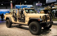A closer look at the military Jeep pickup concept. Wrangler Pickup, Jeep Pickup, Jeep 4x4, Jeep Truck, Military Jeep, Military Vehicles, Accessoires De Jeep Wrangler, Comanche Jeep, Adventure Jeep