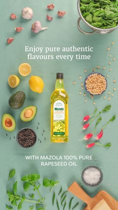 At Mazola we have a passion for combining authentic flavours, like fresh basil, pine nuts and spinach. Cook with the neutral flavour of Mazola Pure Rapeseed Oil and you have the delicious beginnings of a whole menu of recipes. Food Design, Food Graphic Design, Food Poster Design, Stop Motion Photography, Food Photography, Food Advertising, Advertising Design, Restaurant Design, Animation Stop Motion
