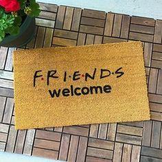 Friends TV Show Gifts Friends Gift Welcome Mat Unique Gifts custom doormat Housewarming gift Gift for Friends Friends Theme door mat Tv: Friends, Friends Tv Show Gifts, Los Dreamcatchers, New Homeowner Gift, Funny Doormats, Coir Doormat, Welcome Mats, House Warming, Fans