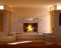 fireplace hearth ideas   See More Unique & Innovative Contemporary Fireplace Designs!