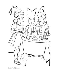 Fun Birthday Picture Coloring Page