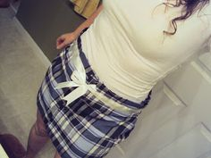Downtime. Upcycle.: Man's Shirt into Sweet Skirt