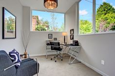 Bright and comfortable home office. Beautiful green home in Seattle, WA.
