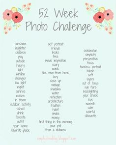 52 Week Photo Challenge, Photography, To help adventure out! Photography Challenge, Photography Lessons, Photography Projects, Digital Photography, Inspiring Photography, Portrait Photography, Photography Tutorials, Beauty Photography, Creative Photography