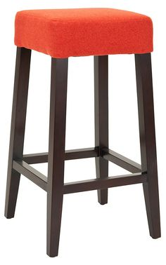 One Kings Lane Our Best Prices Adeline Barstool Orange