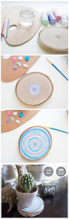 Swirl your world with this pretty birch plant stand DIY!