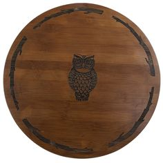Thirstystone Lazy Susan is a handy way to display and serve all your favorite foods. The solid bamboo Lazy Susan has a dark finish, beautiful etched design, and smooth ball bearing turntable. Halloween Kitchen Decor, Halloween House, Halloween Decorations, Owl Kitchen, Kitchen Ideas, Mustard Yellow Walls, Modern Holiday Decor, Halloween Entertaining, Thing 1