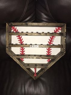Your place to buy and sell all things handmade Trophy Display Case, Baseball Display, Baseball Ring, Travel Baseball, Baseball Mom, Diy Wood Projects, Wood Crafts, Projects To Try, Championship Rings