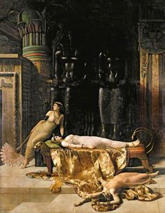 :::: ✿⊱╮☼ ☾ PINTEREST.COM christiancross ☀❤•♥•* :::: John Collier (1850-1934), The Death of Cleopatra, 1890