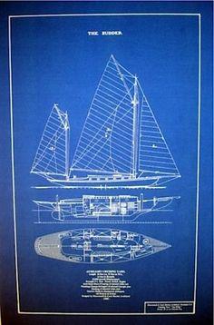 Sailboat poster sailboat patent sailboat print sailboat art handpainted maritime blueprint dresser malvernweather Image collections
