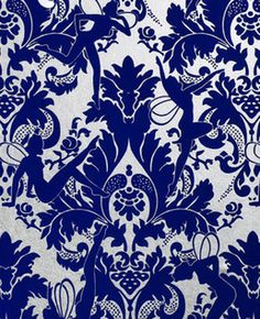 Lawrence Laurito Funky Flock Retro Velvet Wallpaper